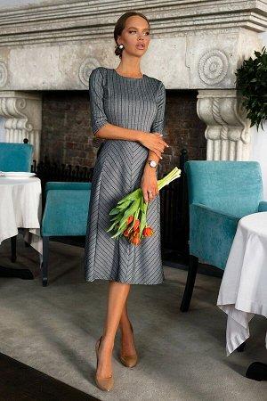 """Платье Платье из плотного трикотажного полотна с нейлоном. Очень красивого металлического цвета. Особенность модели в нестандартном крое юбки в форме """"шестиклинки"""", придаст лёгкости и ненавязчивости В"""