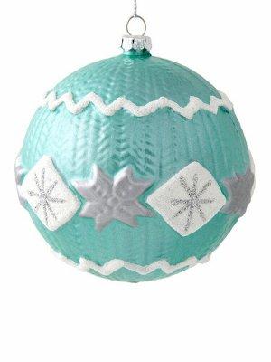Новогоднее подвесное украшение Шар со снежинкой