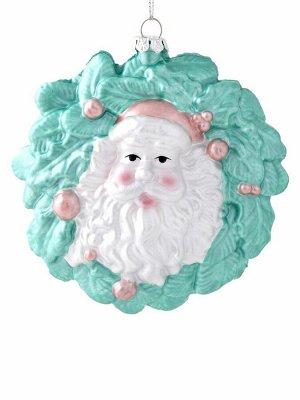 Новогоднее подвесное украшение Венок Дед Мороз