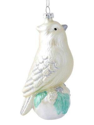 Новогоднее подвесное украшение Птичка на шаре