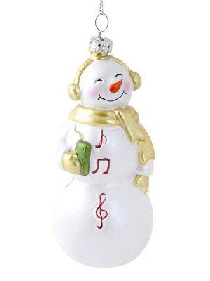 Новогоднее подвесное украшение Музыкальный снеговик