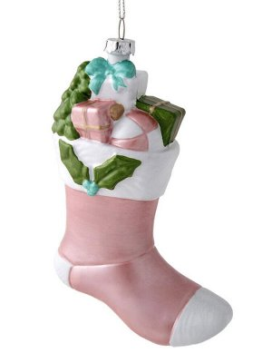 Новогоднее подвесное украшение Носок с подарками