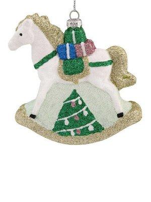 Новогоднее подвесное украшение Лошадка с подарками