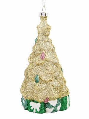 Новогоднее подвесное украшение Золотая ёлка