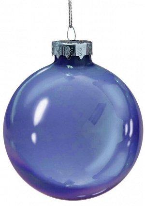 Новогоднее подвесное украшение Ультрамарин шар из стекла