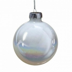 Новогоднее подвесное украшение шар Жемчужно-белый 8