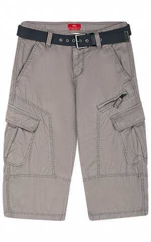 Мужские шорты текстильные с текстильным ремнём