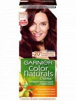 """Garnier Стойкая питательная крем-краска  для волос """"Color Naturals"""" c 3 маслами, оттенок 4.62, Спелая вишня, 100 мл"""