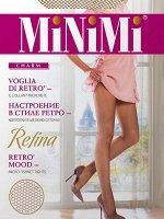 RETINA (MINIMI) /10/100/ колготки в мелкую сетку с ажурным поясом