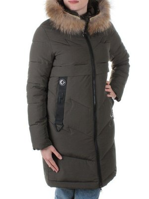 Пальто с мехом енота