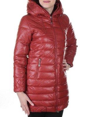 Пальто стеганое из эко-кожи