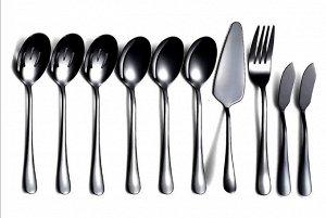 Набор столовых приборов (10 предметов), цвет черный