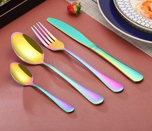 Набор столовых приборов (4 предмета), разноцветный