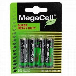 Батарейки АА Megacell R6/1,5В, солевые, 4шт в блистере (Кита