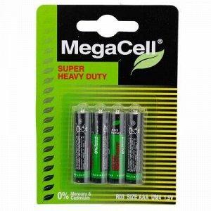 Батарейки ААА Megacell R03/1,5В, солевые, 4шт в блистере (Ки