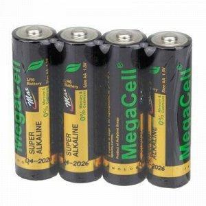 Батарейки АА Megacell LR6/1,5В, щелочные, 4шт в спайке (Кита