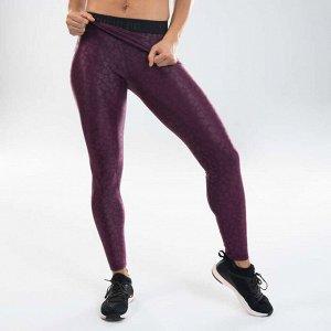 Леггинсы для дэнс-фитнеса женские фиолетовые с графикой