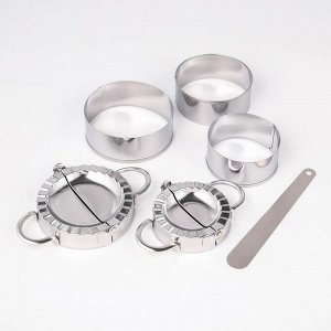 Набор для лепки пельменей «Сметаня», 6 предметов, нержавеющая сталь