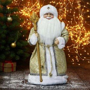 """Дед Мороз """"В золотой шубе, с посохом"""" 22х50 см"""