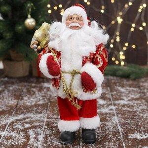 """Дед Мороз """"В красной шубе с подвязкой, с подарками"""" 16х30 см"""