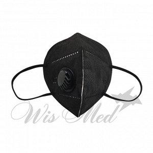 Маска 6-ти слойная с фильтром мелтблаун чёрная SAFETY