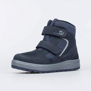 754049-43 синий ботинки школьно-подростковые Комбинирован.