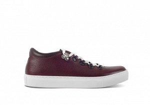 Полуботинки мужские Gorky Boots Low9 бордовый (текстиль+кожа)