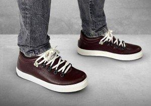 Полуботинки мужские Gorky Boots Low2 бордовый (текстиль+кожа)