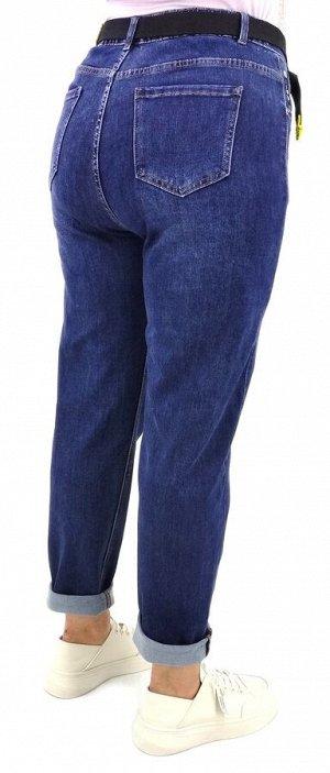 Джинсы Джинсы MOM Тип посадки: высокая; заужены к низу. Детали: застежка на молнию и пуговицу, три кармана спереди и два сзади, шлевки для ремня; ремень в комплекте; Длина изделия (33 размер) по внешн