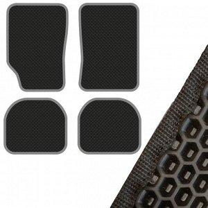 Коврик салона SKYWAY Универсальный левый руль 4 пр. EVA Черный (68х47, 68х46, 46х40, 46х40)
