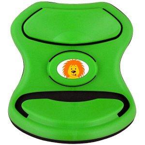 Адаптер ремня безопасности детский SKYWAY пластик зеленый с львенком