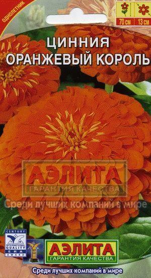Цинния Оранжевый король (Код: 11982)
