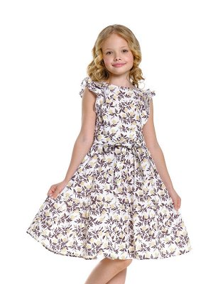 Платье (122-146см) UD 7590(1)цветы/хаки