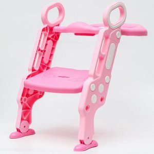 Детское сиденье на унитаз «Абстракция», цвет розовый