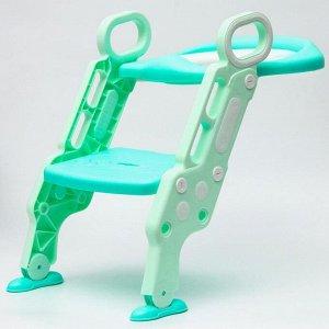 Детское сиденье на унитаз «Абстракция», цвет зеленый