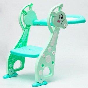 Детское сиденье на унитаз «Лошадка», цвет зеленый