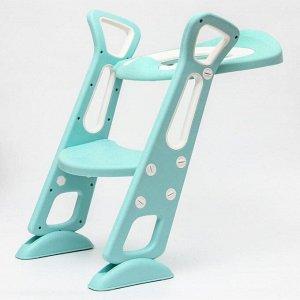 Детское сиденье на унитаз, цвет зеленый