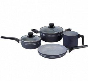 Набор посуды с антипригарным мраморным покрытием