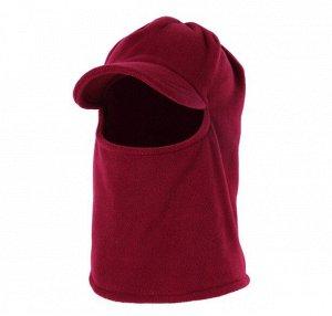 Балаклава унисекс с козырьком, цвет бордо