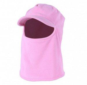 Балаклава унисекс с козырьком, цвет розовый