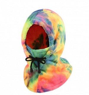"""Балаклава унисекс с капюшоном, принт """"тай-дай"""", разноцветный"""