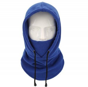 Балаклава унисекс с капюшоном, цвет синий