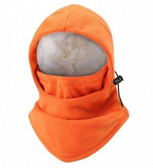 Балаклава унисекс с утяжками, цвет оранжевый