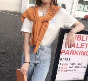 Шарф-накидка женский, цвет оранжевый