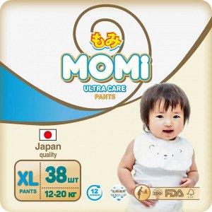 MOMI Ultra Care подгузники-трусики   XL (12-20 кг ). 38  шт
