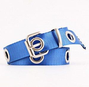 Текстильный ремень унисекс, цвет синий