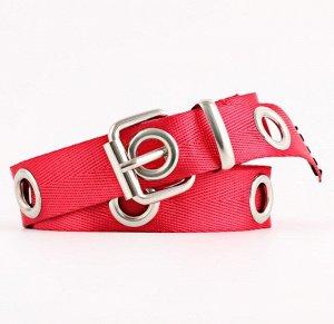 Текстильный ремень унисекс, цвет красный