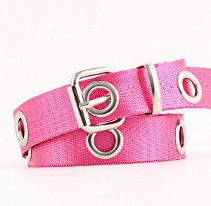 Текстильный ремень унисекс, цвет розовый