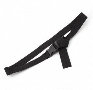 Текстильный ремень унисекс, пряжка фастекс, цвет черный