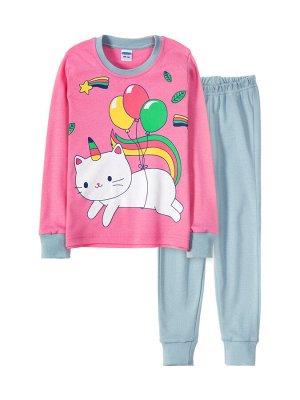 Пижама для девочки Розовый, серый